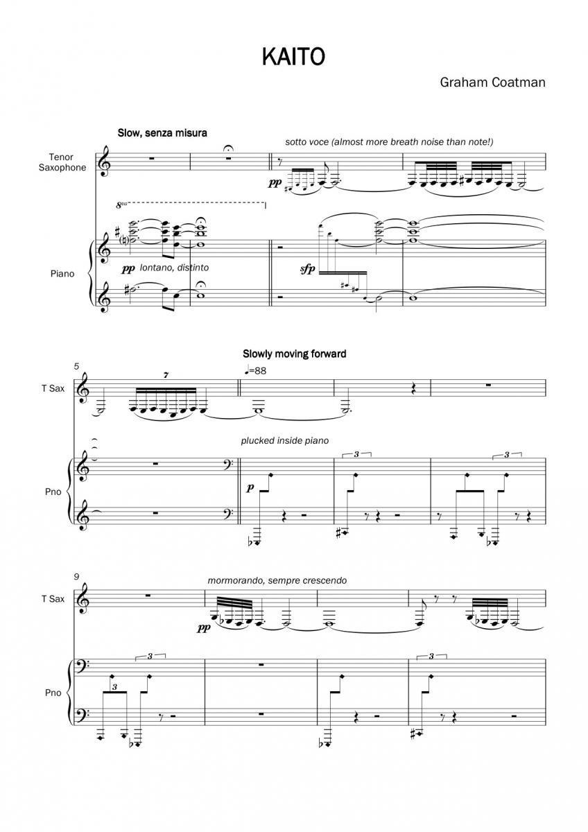 kaito | tenor saxophone index